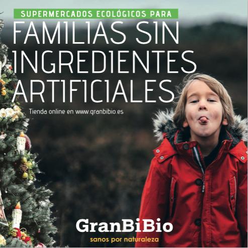 Catálogo Navidades, productos ecológicos, GranBibio, Madrid, Murcia, ofertas ecológicas