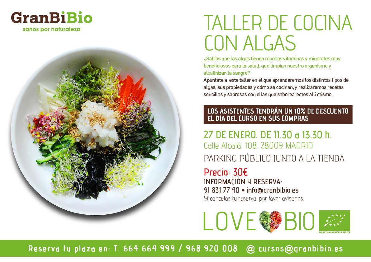 algas, cursos, alimentos ecológicos, supermercado ecológico