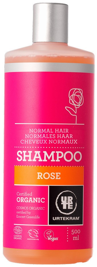 CHAMPU ROSAS CABELLO NORMAL 500ML URTEKRAM