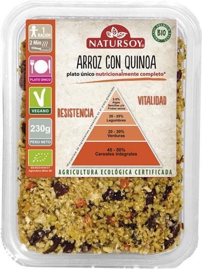 ARROZ CON QUINOA 230GR - NATURSOY