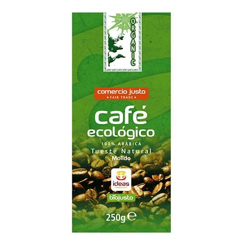 CAFE BIO ORGANIC 100% ARABICA MOLIDO 250GR IDEAS