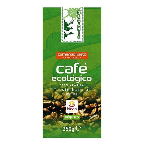CAFE BIO ORGANIC 100% ARABICA MOLIDO 250GR IDEAS