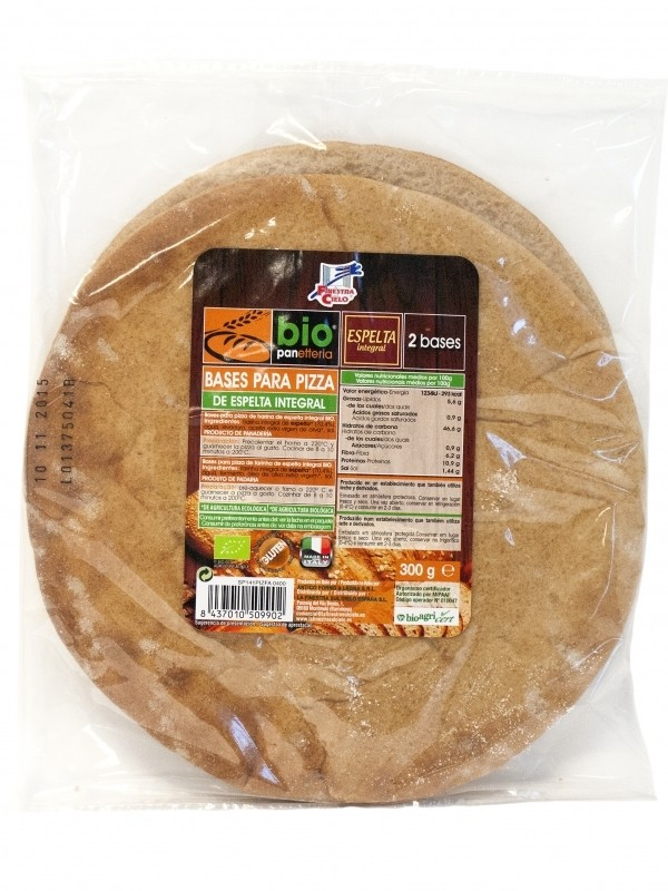 BASE PARA PIZZA ESPELTA INTEGRAL ECO 2X150GR- FINESTRA SUL CIELO