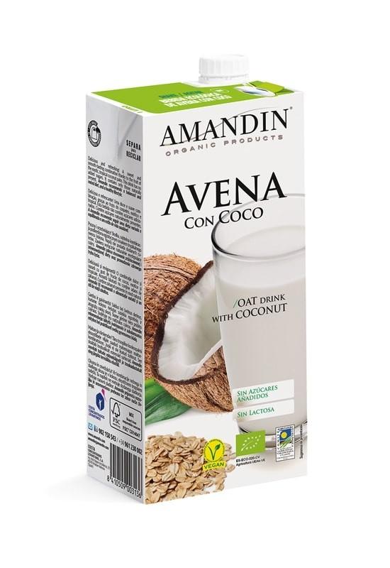 BEBIDA  AVENA CON COCO ECO 1L AMANDIN