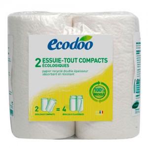 PAPEL DE COCINA 100% ECO RECICLADO 2 ROLLOS -  ECODOO