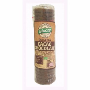 GALLETAS DE CACAO CHOCOLATE ECO BIOCOP 250GR